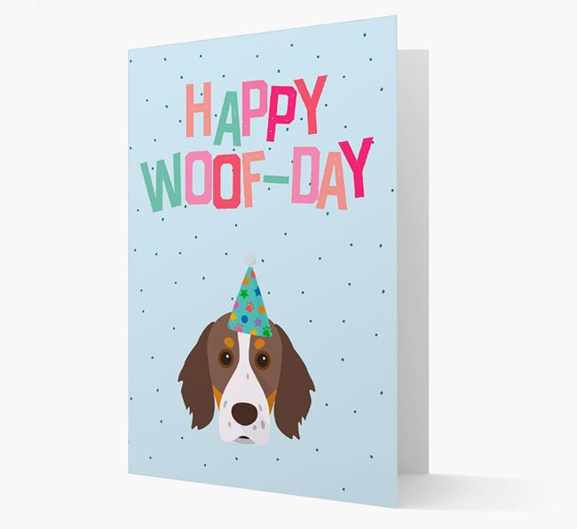 'Happy Woofday' Card with Brittany Icon