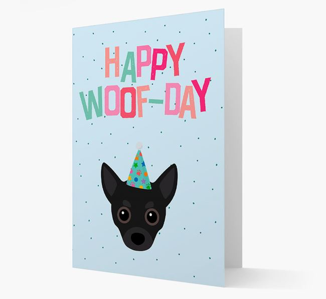 'Happy Woofday' Card with Chihuahua Icon