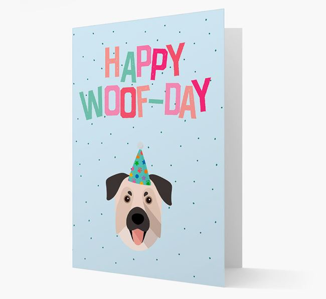 'Happy Woofday' Card with Chinook Icon