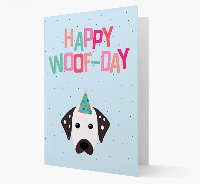 'Happy Woofday' Card with Dalmatian Icon