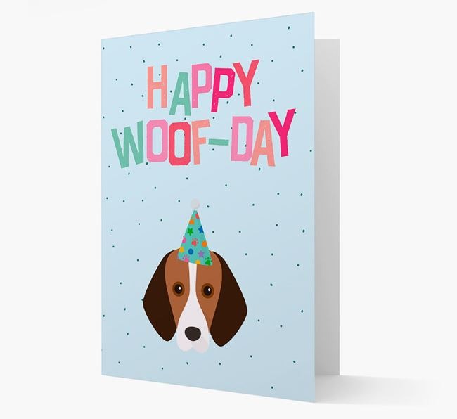 'Happy Woofday' Card with Foxhound Icon