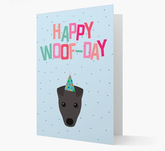 'Happy Woofday' Card with Fox Terrier Icon