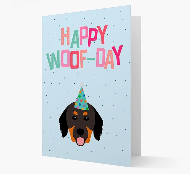 'Happy Woofday' Card with Hovawart Icon