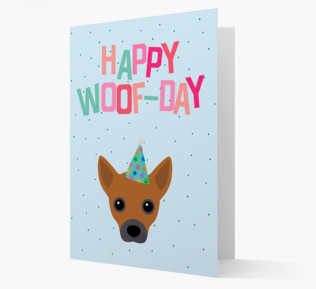 'Happy Woofday' Card with Jackahuahua Icon