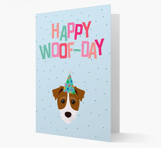'Happy Woofday' Card with Jack-A-Poo Icon