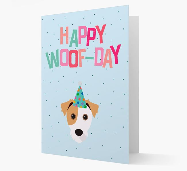 'Happy Woofday' Card with Jack Russell Terrier Icon
