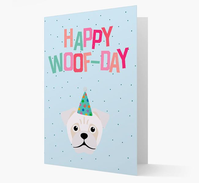 'Happy Woofday' Card with Jug Icon