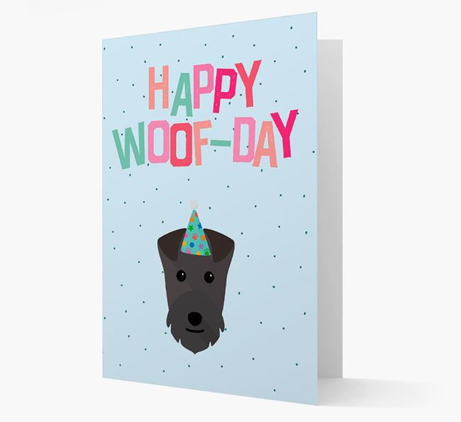 'Happy Woofday' Card with Lakeland Terrier Icon