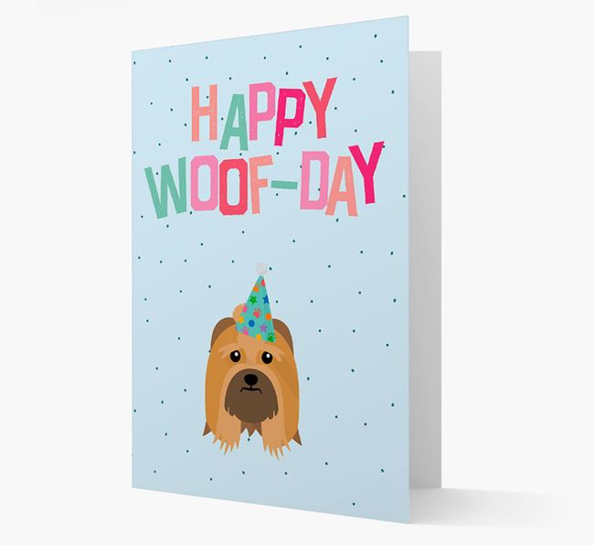 'Happy Woofday' Card with Lhasa Apso Icon