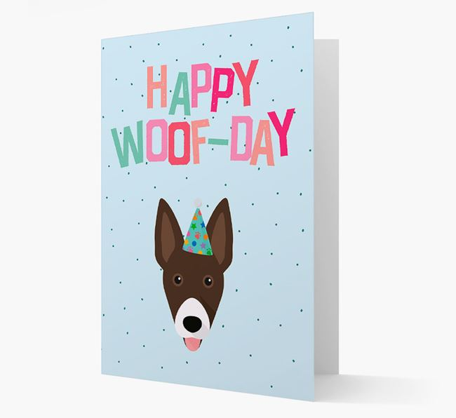 'Happy Woofday' Card with Mixed Breed Icon