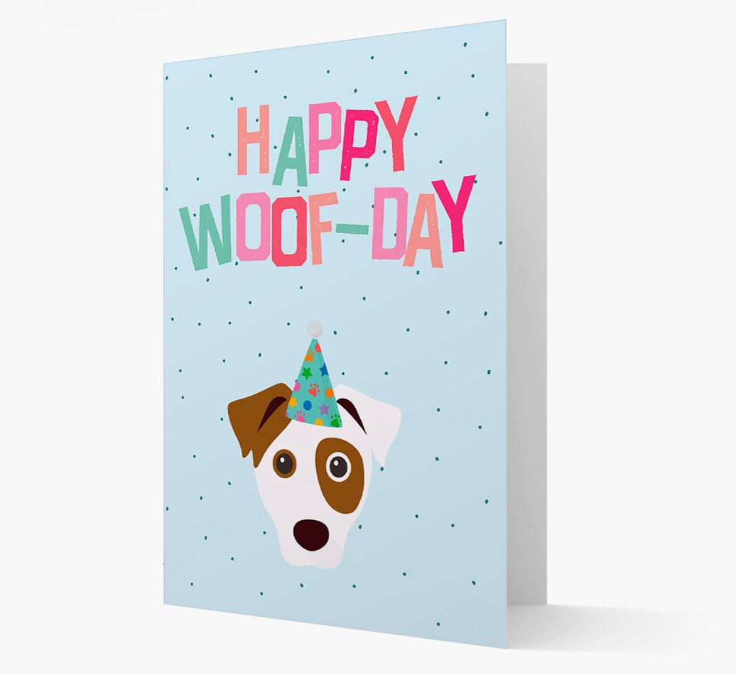 'Happy Woofday' Card with Parson Russell Terrier Icon