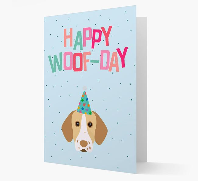 'Happy Woofday' Card with Pointer Icon