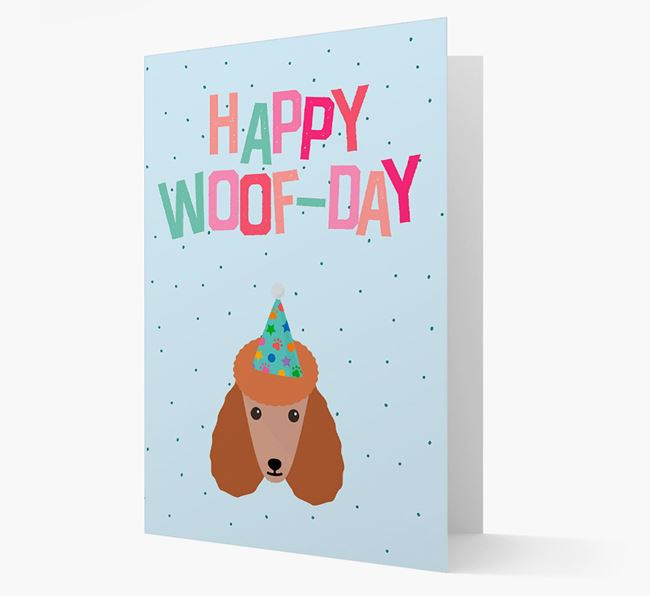'Happy Woofday' Card with Poodle Icon