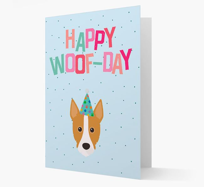 'Happy Woofday' Card with Portuguese Podengo Icon
