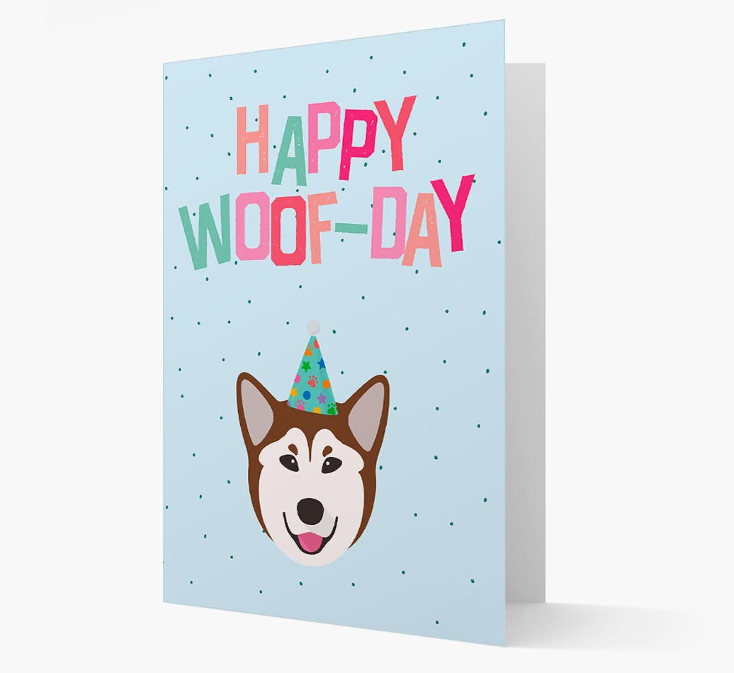 'Happy Woofday' Card with Rescue Dog Icon