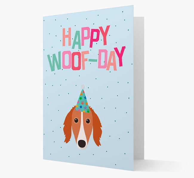 'Happy Woofday' Card with Saluki Icon