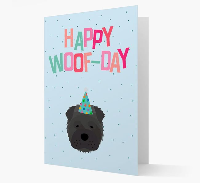 'Happy Woofday' Card with Shar Pei Icon
