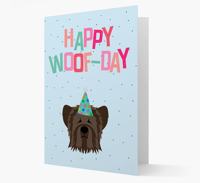 'Happy Woofday' Card with Skye Terrier Icon