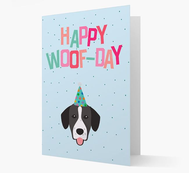 'Happy Woofday' Card with Springador Icon