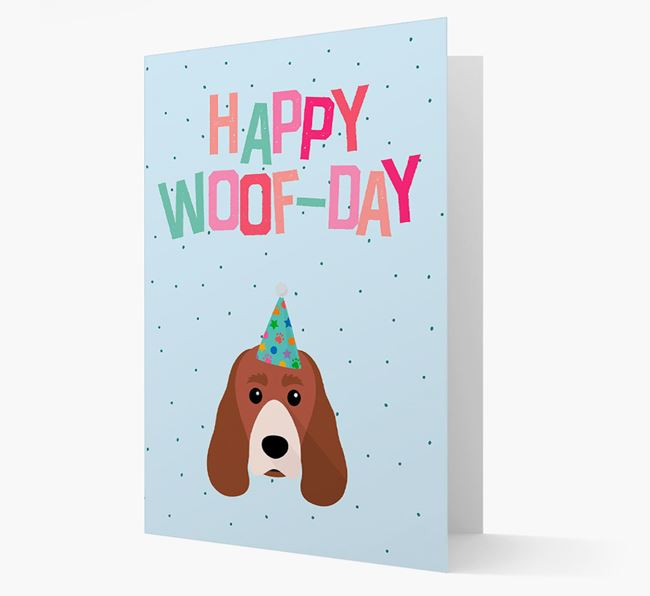 'Happy Woofday' Card with Sprocker Icon