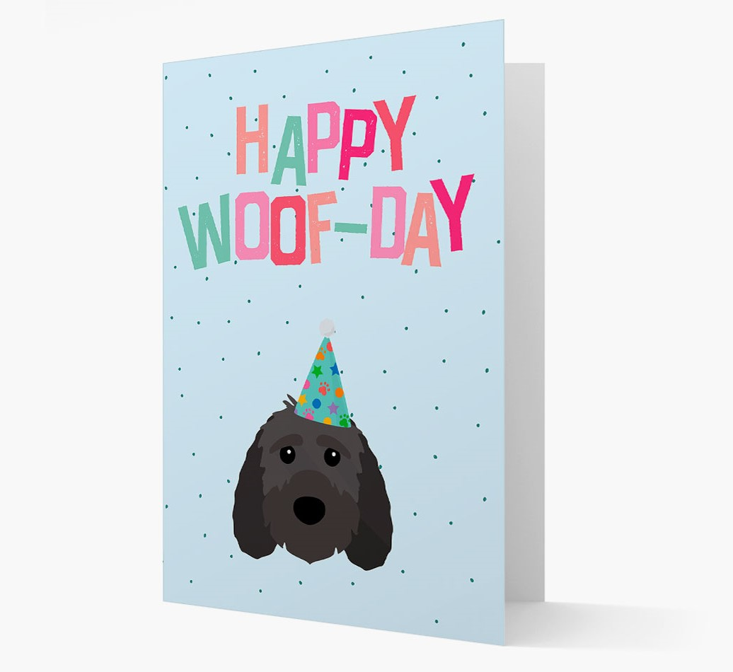 'Happy Woofday' Card with Sproodle Icon