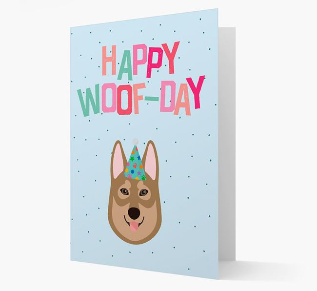 'Happy Woofday' Card with Tamaskan Icon