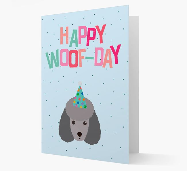 'Happy Woofday' Card with Toy Poodle Icon