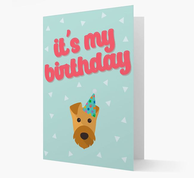 'It's my Birthday' Card with Airedale Terrier Icon