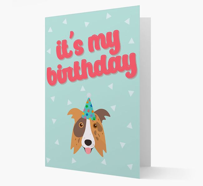 'It's my Birthday' Card with Border Collie Icon