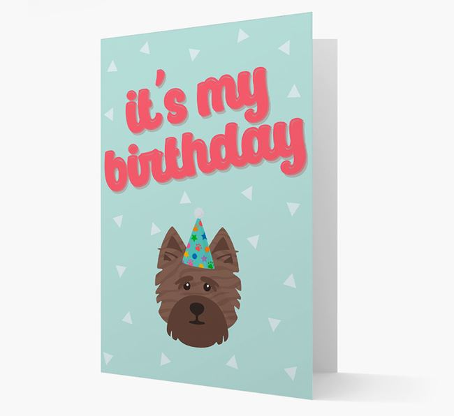 'It's my Birthday' Card with Cairn Terrier Icon
