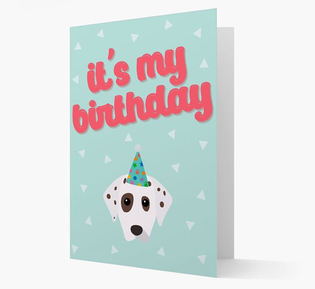 'It's my Birthday' Card with Dalmatian Icon