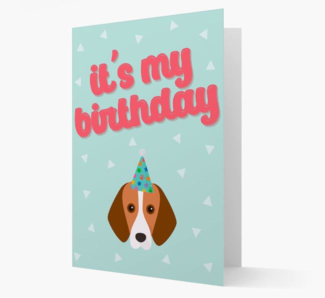 'It's my Birthday' Card with Foxhound Icon
