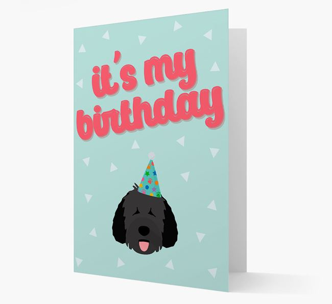 'It's my Birthday' Card with Dog Icon