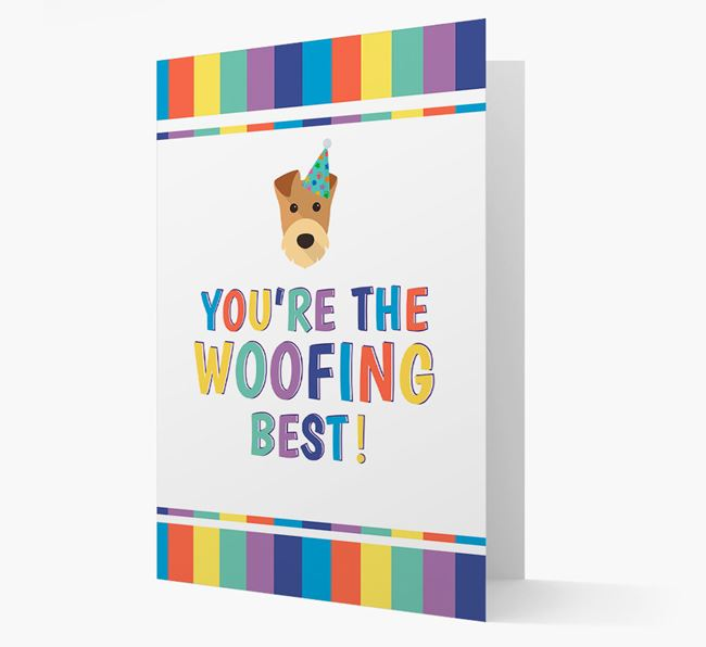 'You're the Woofing Best' Card with Airedale Terrier Icon