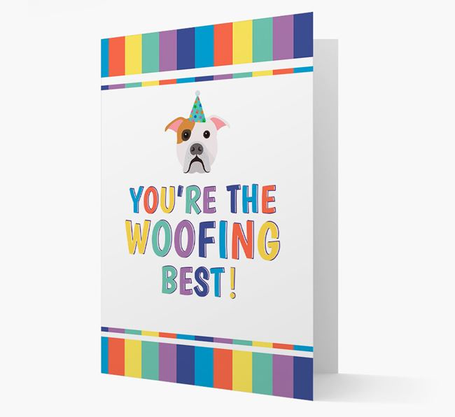 'You're the Woofing Best' Card with American Bulldog Icon