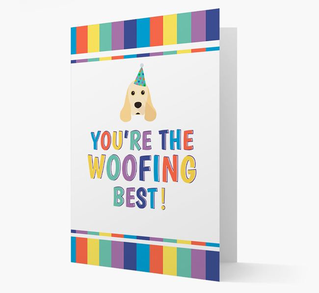 'You're the Woofing Best' Card with American Cocker Spaniel Icon