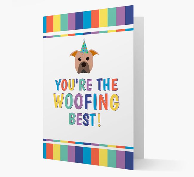 'You're the Woofing Best' Card with American Pit Bull Terrier Icon
