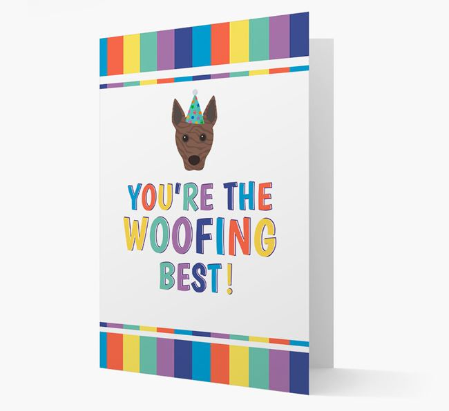 'You're the Woofing Best' Card with Basenji Icon
