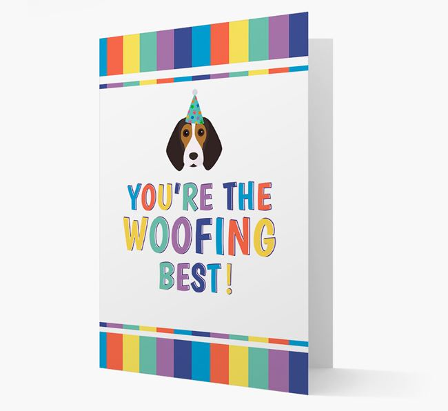 'You're the Woofing Best' Card with Beagle Icon