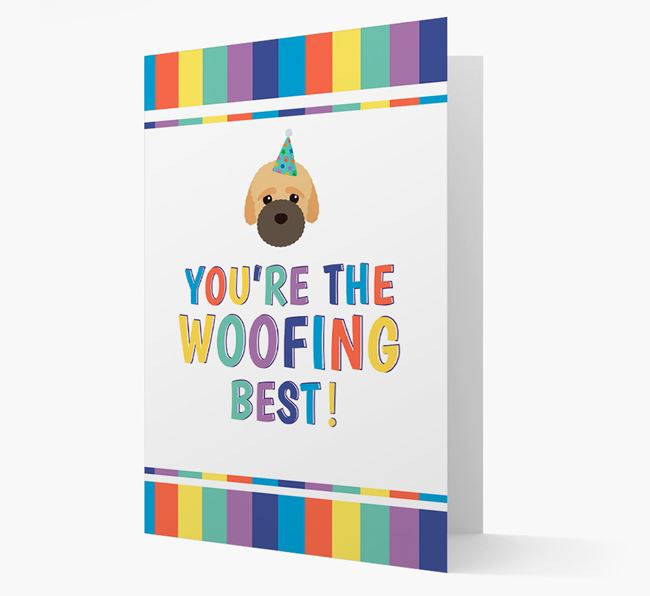 'You're the Woofing Best' Card with Bich-poo Icon