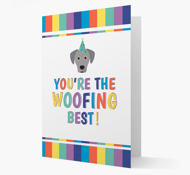 'You're the Woofing Best' Card with Blue Lacy Icon