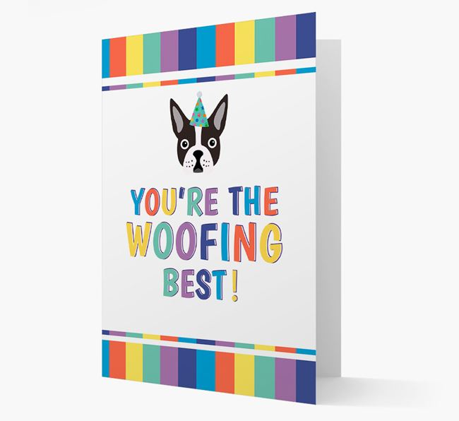 'You're the Woofing Best' Card with Dog Icon