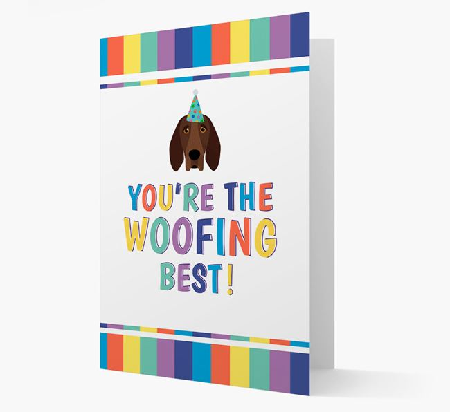 'You're the Woofing Best' Card with Bracco Italiano Icon