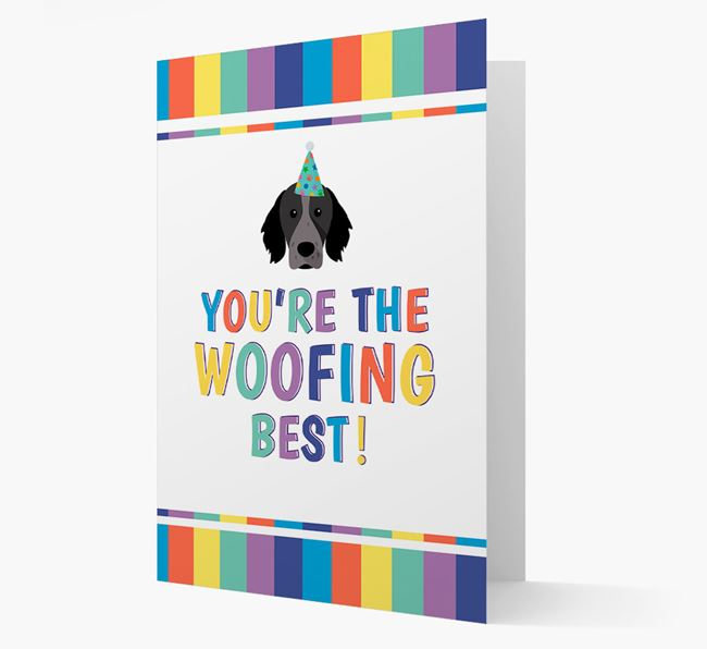 'You're the Woofing Best' Card with Brittany Icon