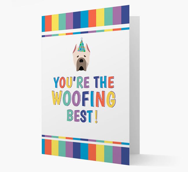 'You're the Woofing Best' Card with Cane Corso Italiano Icon