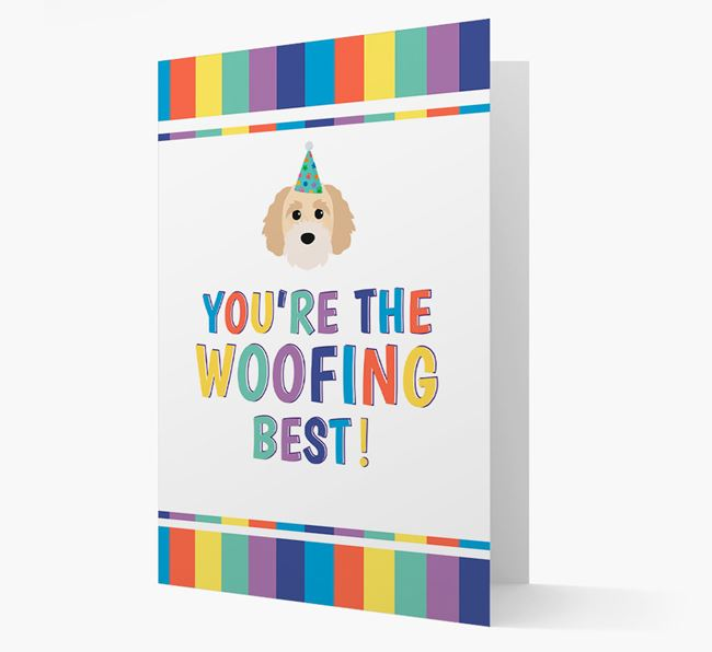 'You're the Woofing Best' Card with Cavapoochon Icon