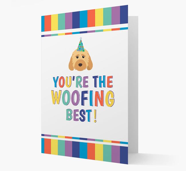 'You're the Woofing Best' Card with Cockapoo Icon