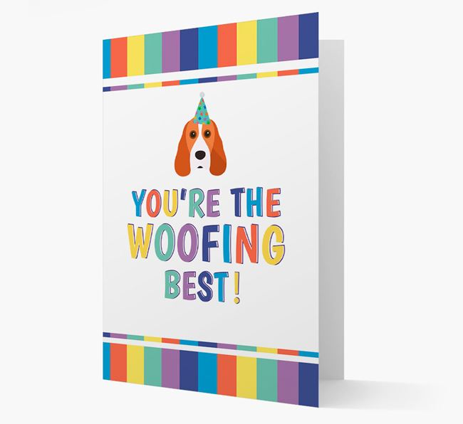 'You're the Woofing Best' Card with Cocker Spaniel Icon