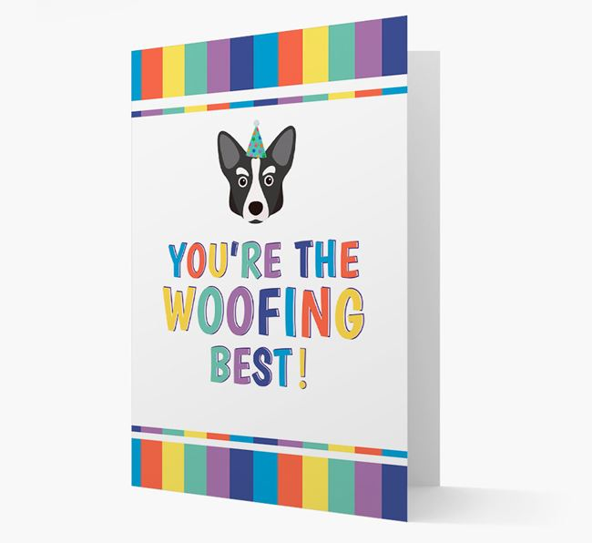 'You're the Woofing Best' Card with Corgi Icon