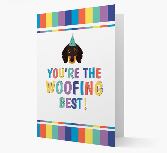'You're the Woofing Best' Card with Dachshund Icon